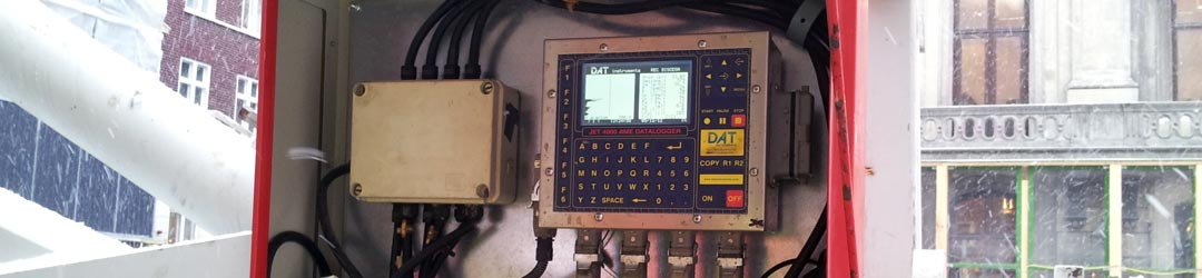 DAT instruments, from building sites, data loggers for jet-grouting, drilling, MWD, grouting