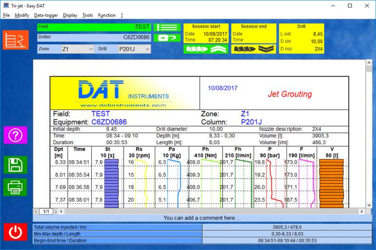 Easy DAT, DAT instruments software, datalogger